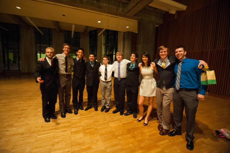 The Cal Poly Mustang Marching Band 2014 Banquet. Apr. 13, 2014. Photo by Ian Billings