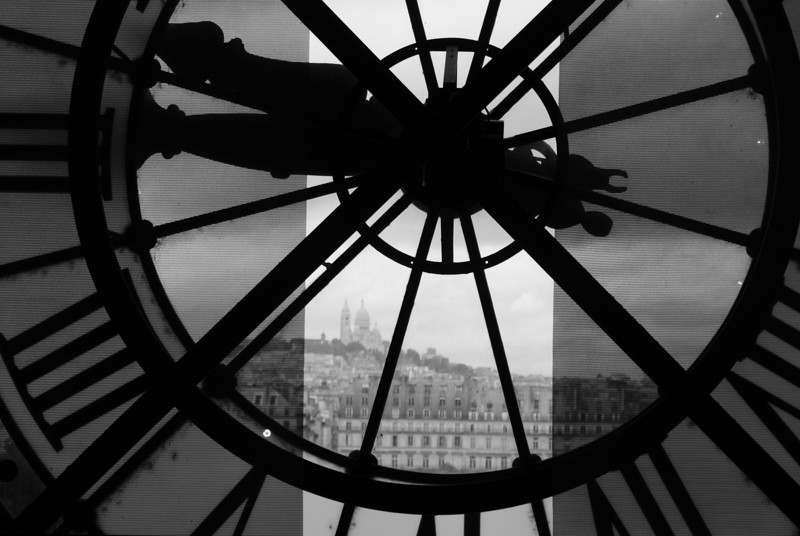 Inside the Museum D'Orsay. D'Orsay was once a train station and seeing the inside of the old station is reason enough to go.