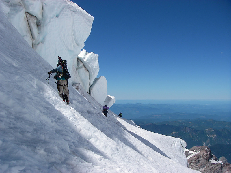 ...to avoid troubles with crevasses