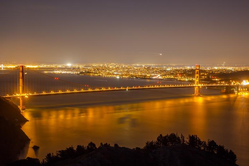 Nightview of Golden gate bridge