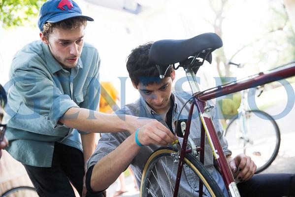 Tom Silva & Sara Diaz Bike Workshop
