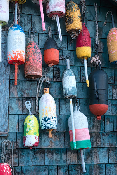 Lobster Buoys in Full Color