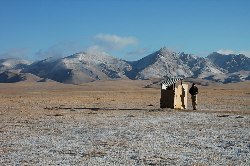 Remote Outhouse - Song Kul, Kyrgyzstan