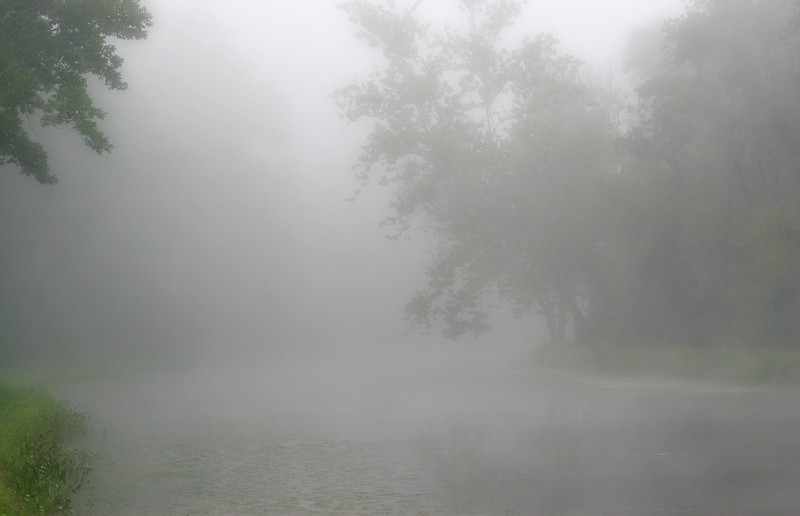 Foggy morning on the C&O Canal