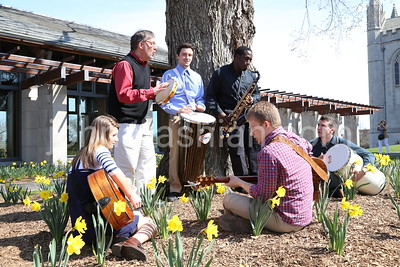 Trinity College - Student Band Performing Outside - April 15, 2013