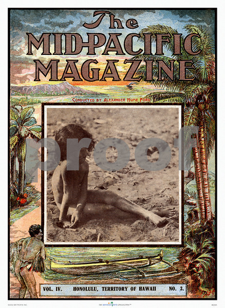 229: 'The Mid-Pacific Magazine' Cover, 1912. (PROOF watermark will not appear on your print)