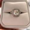2.85ct Antique Cushion Cut Diamond Halo Ring 2