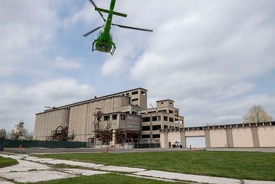 56828 CareFlight landing at Calamityville 4-23-21