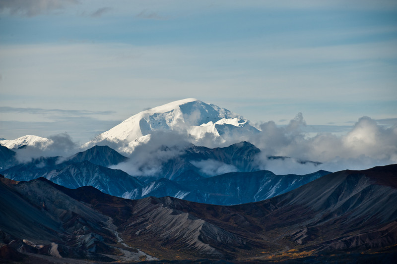 St Peter's Peak, 10,600 feet., Denali National Park, Alaska