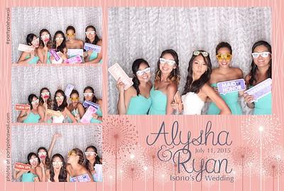 Alysha & Ryan's Wedding (LED Open Air Photo Booth)