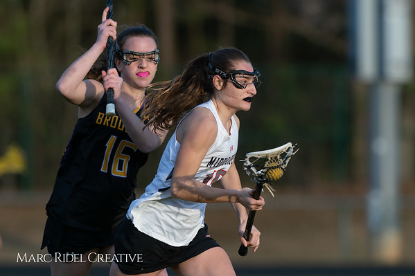 Broughton Lady Caps lacrosse at Middle Creek. February 26, 2019. D4S_1863