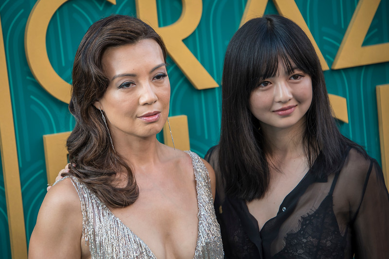 HOLLYWOOD, CA - AUGUST 07: Ming-Na Wen and Michaela Zee arrive at Warner Bros. Pictures' 'Crazy Rich Asians' Premiere at TCL Chinese Theatre IMAX on Tuesday, August 7, 2018 in Hollywood, California. (Photo by Tom Sorensen/Moovieboy Pictures)