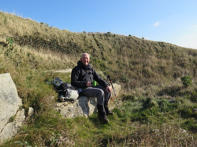 9 chilly, hilly miles from the Houns Tout car park, Kingston, Dorset