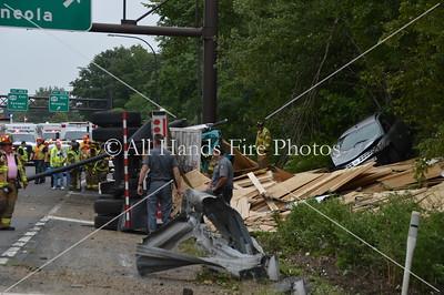 20130819 - Old Westbury - Overturned Truck w/ HAZMAT