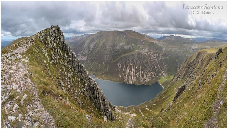 Braeriach and Loch Einich from Sgor Gaoith, Cairngorms