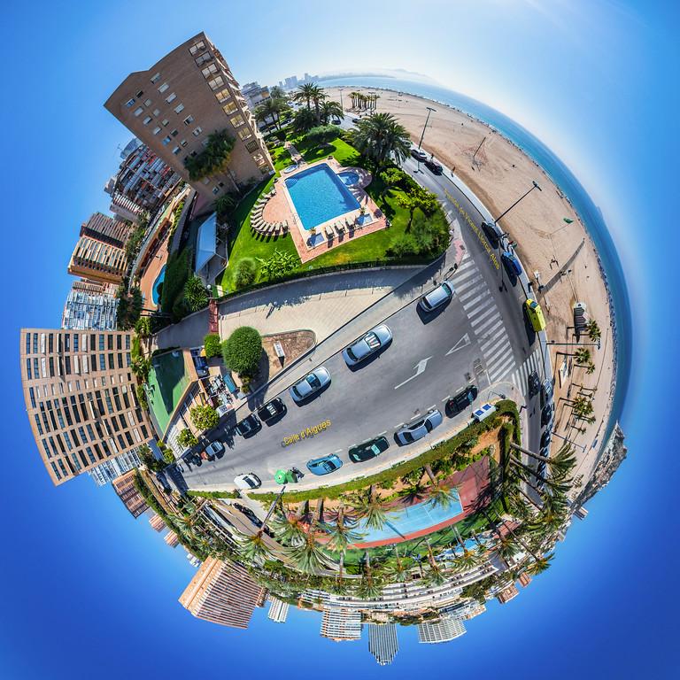 Aerial View Poniente Beach Benidorm