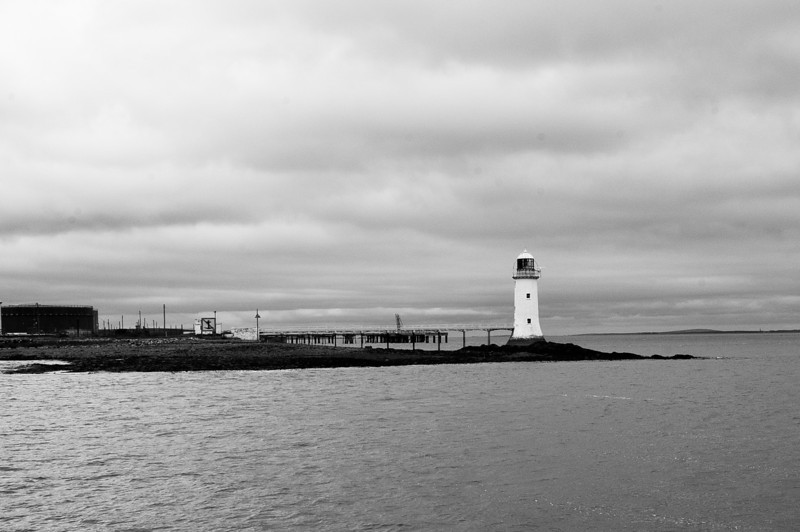 Lighthouse, view from the ferry on the River Shannon