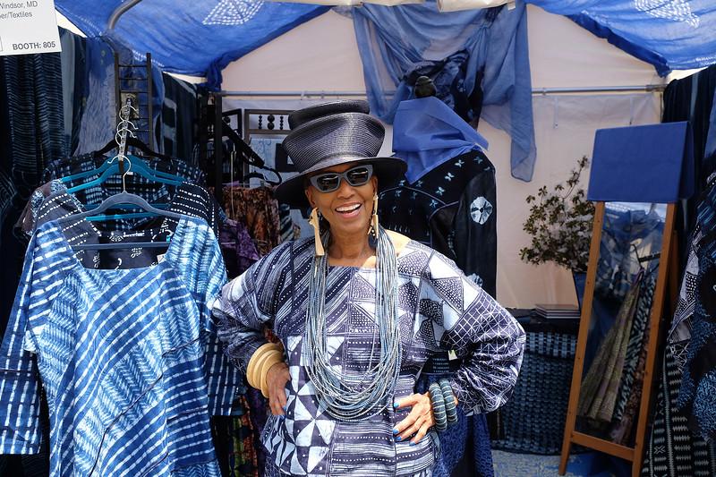 Textile artist at the Northern Virginia Fine Arts Festival