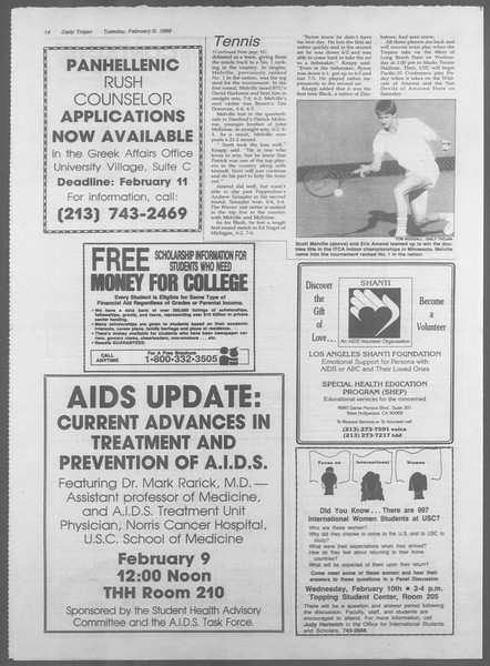Daily Trojan, Vol. 106, No. 21, February 09, 1988
