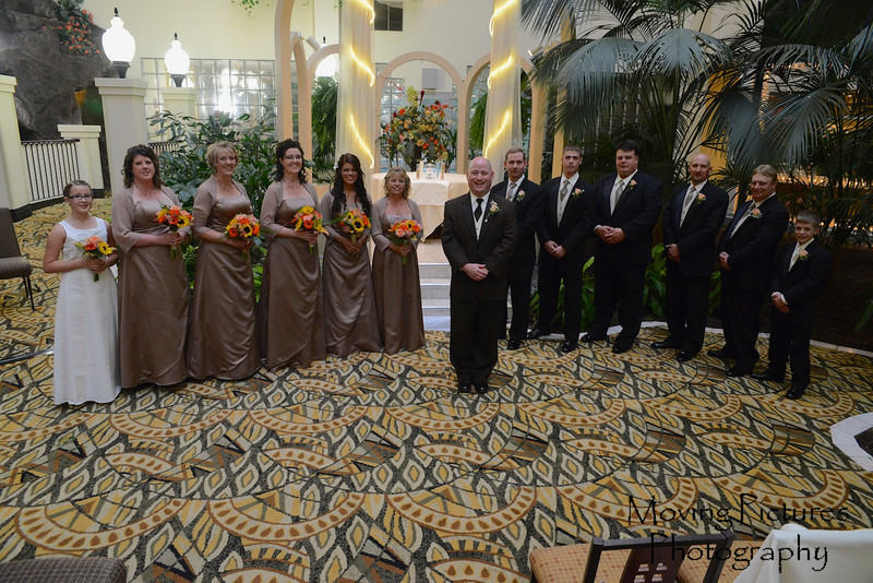 The wedding party, awaiting the bride