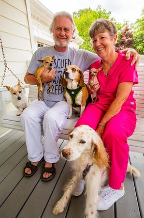 Senior Pup Rescue Family
