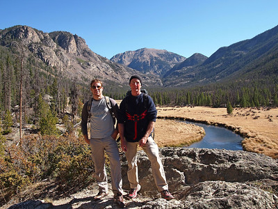 East Inlet with Conor, RMNP, October 9, 2012