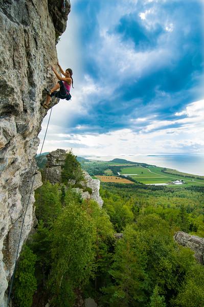 Rock Climbing in Kamouraska, Quebec, Canada, Summer 2012