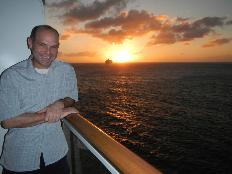 Enjoying the Caribbean sunset!