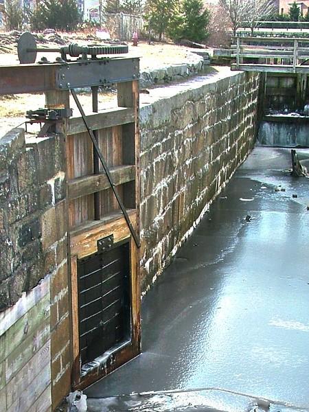 Swamp Lock gate ~ Lowell, MA