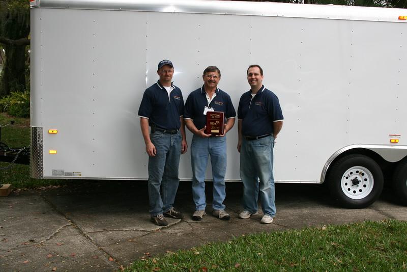 Award for Best Vendor Display at 2010 Travares, FL Boat Show
