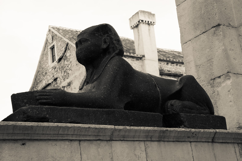 Split: 3500yo Egyptian Sphinx at Diocletian's Palace