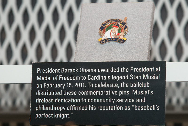 Replica Presidential Medal of Freedom for Stan Musial (2011) -- A trip to the Baseball Hall of Fame, Cooperstown, NY, June 2014