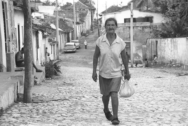 Walking on the Street - Trinidad, Cuba