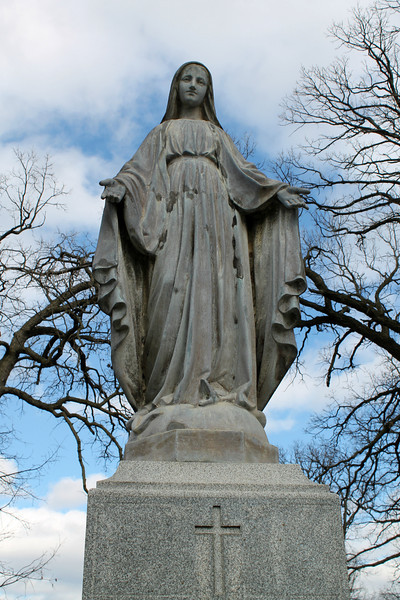 """Happy Mother's Day!"" - Daily Photo - 05/12/13  Mt. Olivet Cemetery, Aurora, Illinois  Really like the expression of Mother Mary on this statue, blessed day to all!"