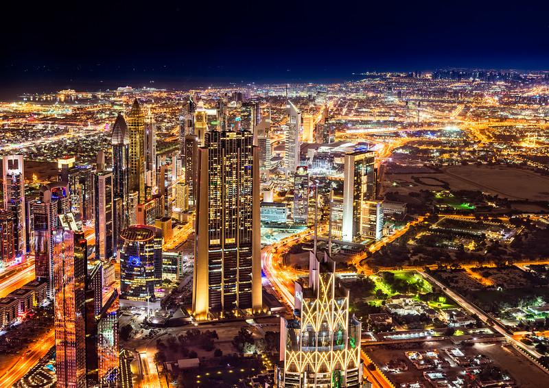 När jag satt o redigerade den här bilden tänkte jag att Burj Khalifa borde synas. Vet ni varför det inte gör det?
