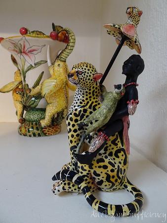 Admiring Ardmore Ceramics, Durban South Africa, April 2018