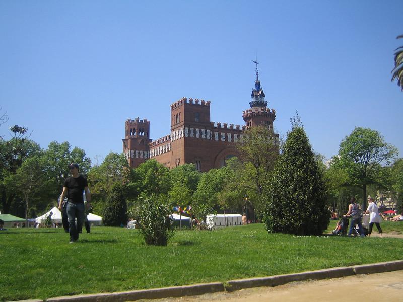 Inside the city park.