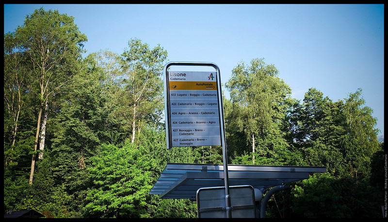 Bus stop  Walking around Cademario