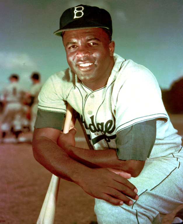 . FILE - Brooklyn Dodgers baseball player Jackie Robinson poses in 1952.  (AP Photo/File)
