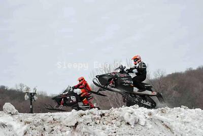 20110219  Snowmobile Hill Climbs