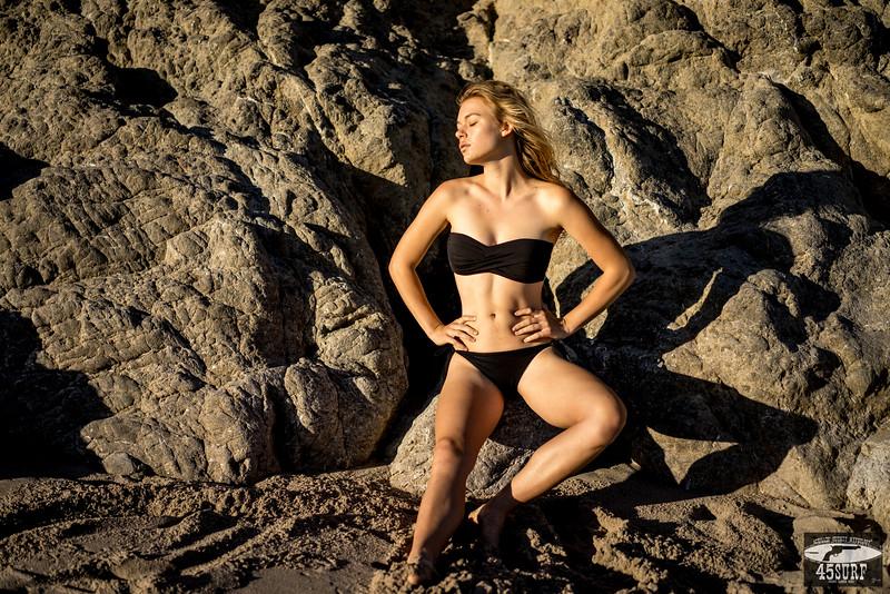 Sony A7R RAW Photos of Pretty Blond Bikini Swimsuit Model Goddess in Sea Cave! Carl Zeiss Sony FE 55mm F1.8 ZA Sonnar T* Lens! Lightroom 5.3 Malibu Beach!