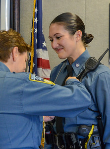 Trooper Stephanie Devlin pinned with Mothers Badge - 776 - 11.04.2019