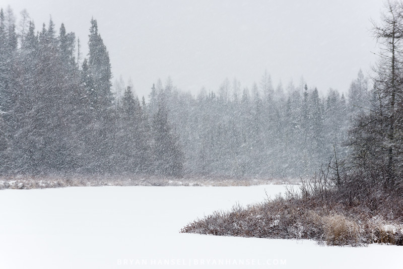 Snowstorm on Junco River