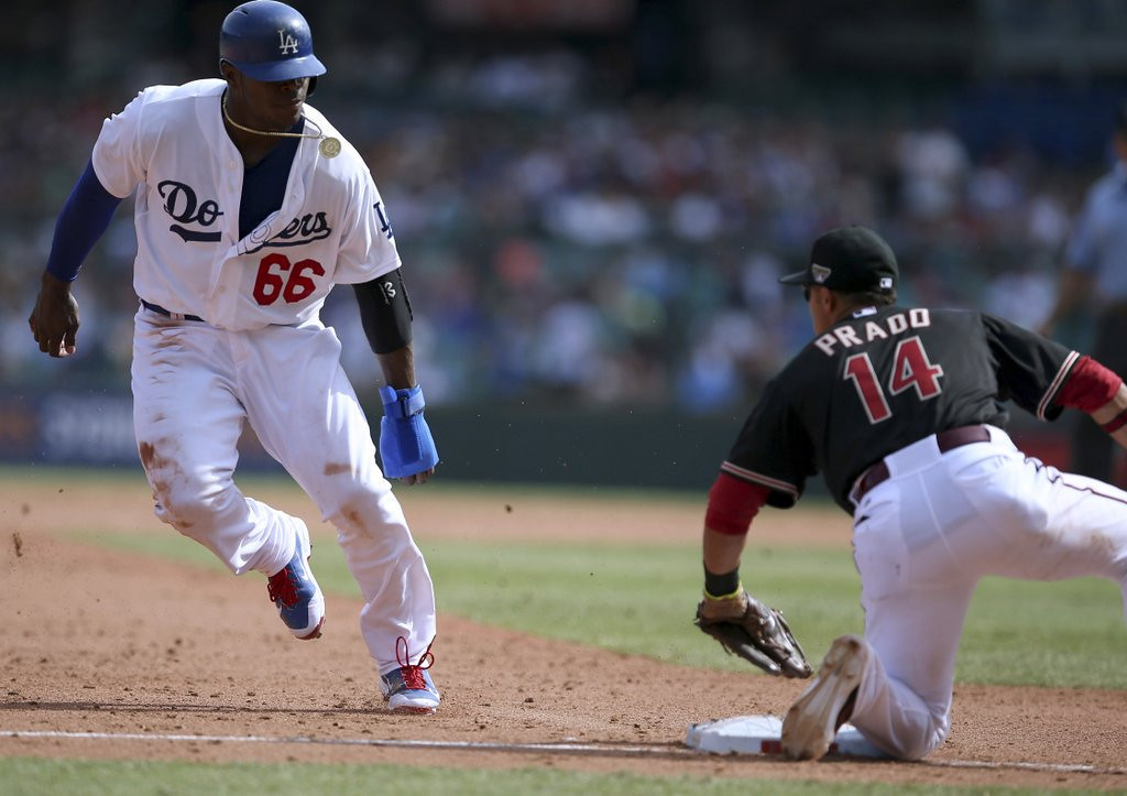 """. <p>9. YASIEL PUIG <p>Dodgers clown already in midseason comedic form. (unranked) <p><b><a href=\'http://espn.go.com/blog/los-angeles/dodger-report/post/_/id/9067/mattingly-is-running-out-patience-with-puig\' target=\""""_blank\""""> HUH?</a></b> <p>      (AP Photo/Rick Rycroft)"""