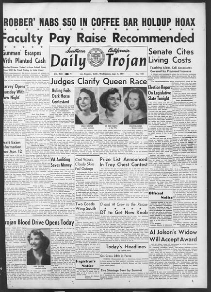 Daily Trojan, Vol. 42, No. 101, April 04, 1951