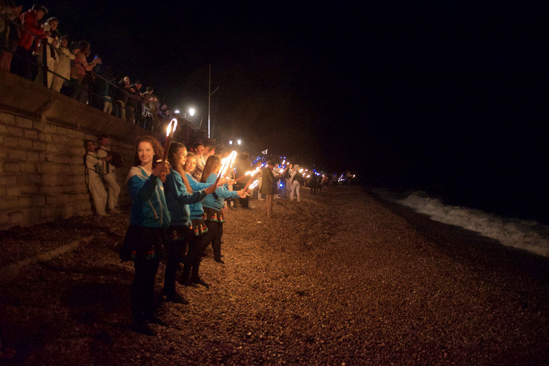 Torches on the Beach