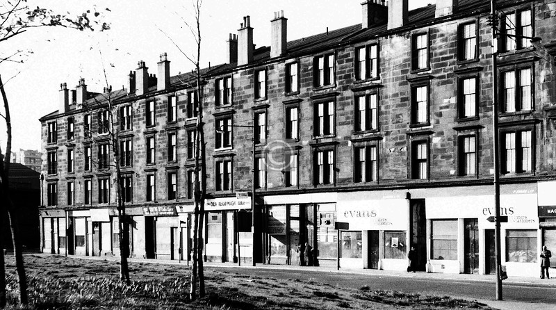 Ballater St, south side, east of  the cross.    May 1974