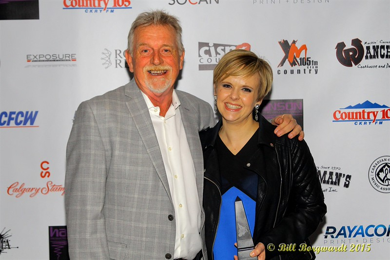 Lindsay Ell & Ed Harris (Calgary Stampede) - tie winners for the Talent Buyer of the Year Award - ACMA Awards Show 2015