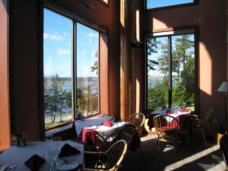 A view from inside the lodge