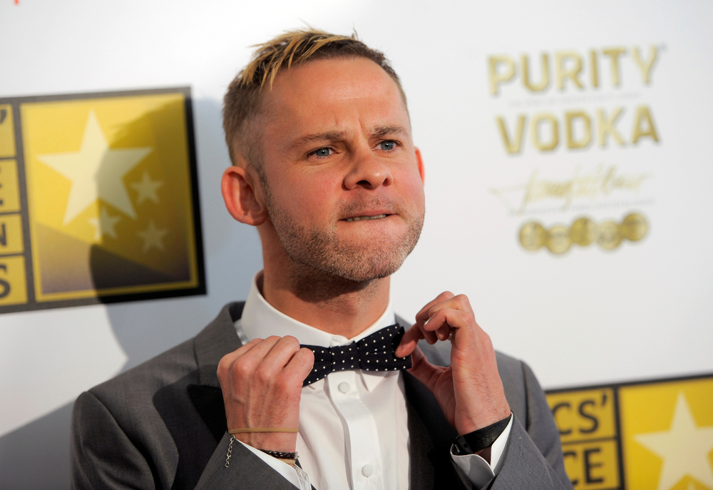. Dominic Monaghan arrives at the Critics\' Choice Television Awards in the Beverly Hilton Hotel on Monday, June 10, 2013, in Beverly Hills, Calif. (Photo by Chris Pizzello/Invision/AP)